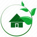 Home with leaves icon